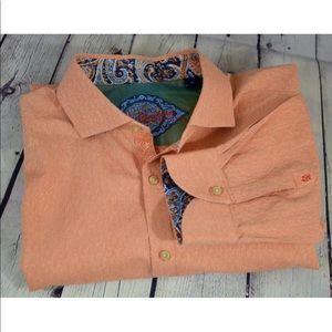 Robert Graham Orange Mens Shirt
